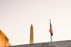 Washington Monument in Dawn Unique composiiton Stock Afbeeldingen