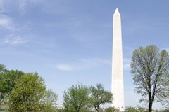 Washington Monument, DC. View of the Washington Monument in DC, summer or spring Stock Photos