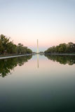 Washington Monument in der Dämmerung Lizenzfreies Stockfoto