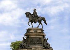 Washington Monument door Rudolf Siemering, Benjamin Franklin Parkway bij Eakins-Ovaal, Philadelphia, Pennsylvania stock afbeelding