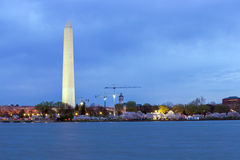 Washington Monument at dusk DC Stock Images