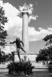 Washington Monument e fontana Immagini Stock Libere da Diritti