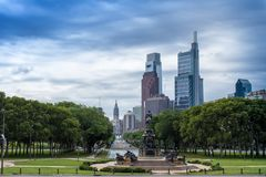 Washington Monument, Eakins oval, Philadelphfia, EUA foto de stock