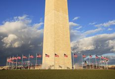 Washington Monument Flags Stock Images