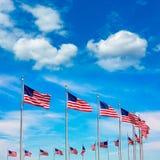 Washington Monument flags circle in DC USA Stock Photos