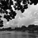 Washington monument i D C Arkivfoto