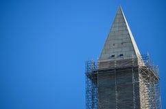 Washington Monument im Bau lizenzfreie stockfotos
