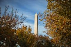 Washington monument jesienią Zdjęcie Royalty Free