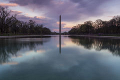 Washington Monument from Lincoln Memorial Royalty Free Stock Photos