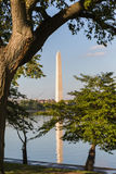 The Washington Monument on the Mall and a reflection. The Washington Monument on the Mall Royalty Free Stock Photo