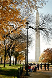 Washington Monument na queda Imagem de Stock Royalty Free