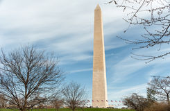 The Washington Monument at National mall in Washington DC. Washington DC - April 05, 2015 - The Washington Monument at National mall in Washington DC Royalty Free Stock Images