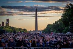 Washington Monument During National Police Week 2017 Royalty Free Stock Photo