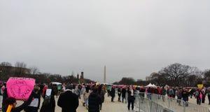 Washington Monument, Nationale Wandelgalerij, Vrouwen ` s Maart, Washington, gelijkstroom, de V.S. Royalty-vrije Stock Afbeelding