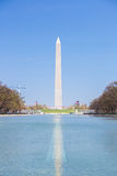 Washington Monument in new reflecting pool Royalty Free Stock Photo