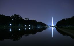 Washington Monument at night. Washington Monument in Washington DC at twilight Stock Images