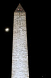Washington Monument at night Stock Photo
