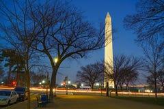 Washington Monument an night, USA Royalty Free Stock Photos