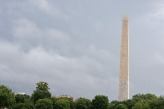 Washington Monument Obelisk in DC Mall panorama. On sunny cloudy day Royalty Free Stock Photography