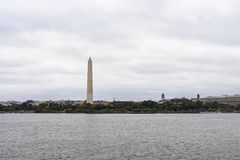 Washington Monument Obelisk. Washington DC, USA - October 12, 2017: View of the historical obelisk named Washington Monument that honors America's first stock photos