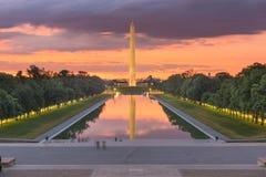 Free Washington Monument On The Reflecting Pool In Washington, D.C Stock Image - 138667891