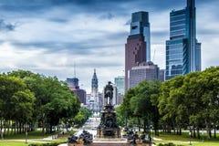 Washington Monument, ovale di Eakins, Filadelfia, U.S.A. fotografia stock