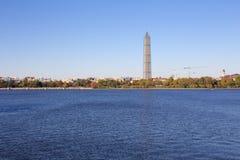Washington Monument over het Reservoir Royalty-vrije Stock Afbeelding