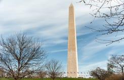 Washington Monument på den nationella gallerian i Washington DC Royaltyfria Bilder