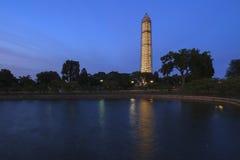 Washington Monument på natten Royaltyfria Bilder