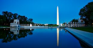 Washington Monument and Pacific Memorial, Washington, DC stock photography