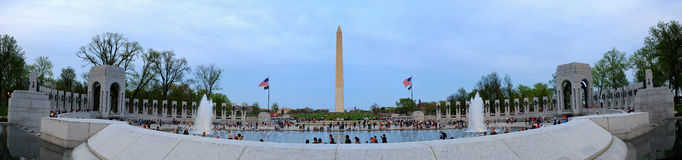 Washington monument panorama, Washington DC. Stock Images