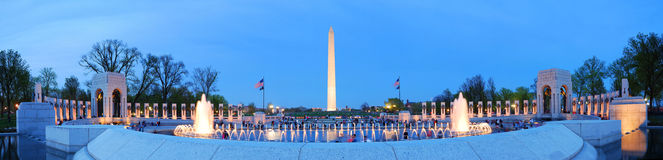 Washington monument panorama, Washington DC. Royalty Free Stock Images