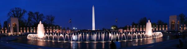 Washington monument panorama, Washington DC. Stock Photography