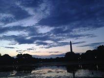 Washington Monument prima di alba Immagine Stock Libera da Diritti