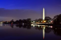 Washington Monument Reflected Royalty Free Stock Photography