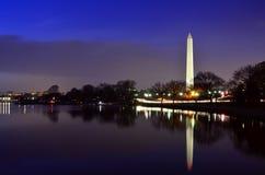 Washington Monument Reflected Royalty Free Stock Photography