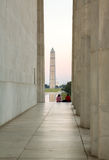 Washington Monument reflecting at night Stock Photos