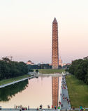 Washington Monument reflecting at night Royalty Free Stock Image