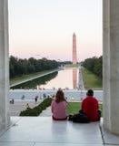 Washington Monument reflecting at night Stock Image