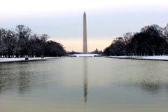 Washington monument reflecting pool Royalty Free Stock Image