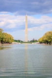 Washington monument and reflecting pool Royalty Free Stock Photo