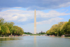 Washington monument and reflecting pool Royalty Free Stock Image