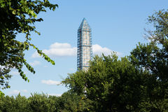 Washington Monument scaffolding stock images