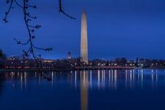 Washington Monument in Schemering royalty-vrije stock afbeelding