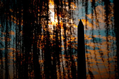 Washington Monument Silhouette Royalty Free Stock Photo