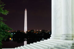 Washington Monument From The Steps av Jefferson Memorial Royaltyfri Fotografi