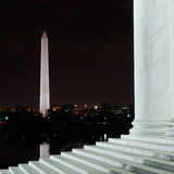 Washington Monument From The Steps van Jefferson Memorial Stock Afbeelding
