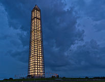 Washington Monument during a storm Stock Photos