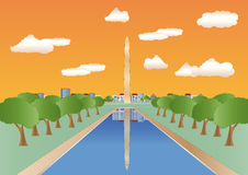 Washington monument at sundown Royalty Free Stock Photography