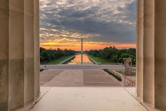 Washington Monument Sunrise imagem de stock royalty free